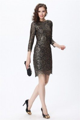 High-end Lace 3/4 Sleeve Bodycon Dress
