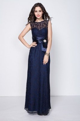 Lace High Neck Long Party Dress