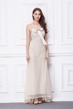Bow Knot Long Tulle Formal Gown