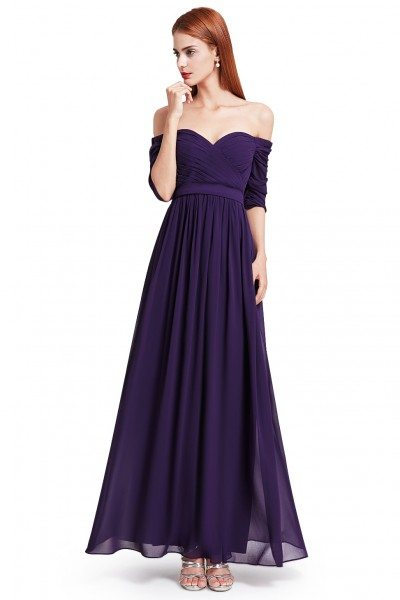Dark Purple Off The Shoulder Evening Gown With Sweetheart Neckline 59 Ep07411dp Sheprom Com