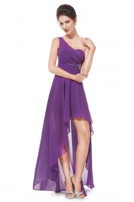Purple One Shoulder...