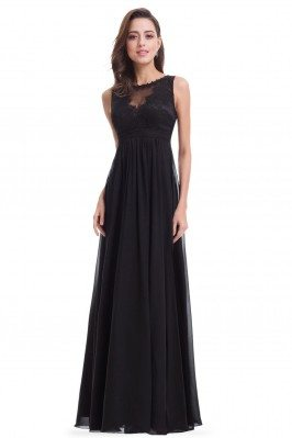 Black Long Chiffon High...