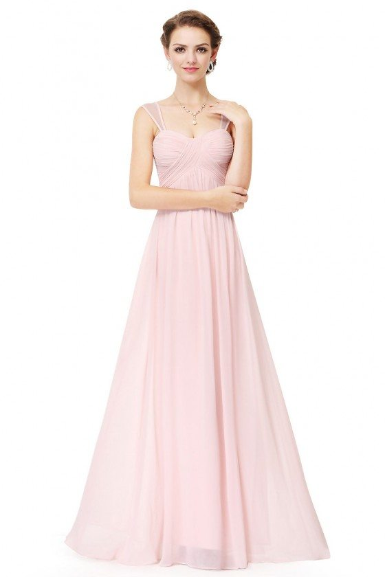 Pink Simple Corset Back Long Evening Dress 59 Ep08863pk Sheprom Com