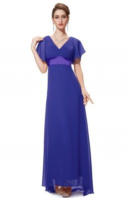 Royal Blue Chiffon Double...