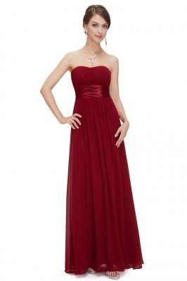 Strapless Ruched Bust...