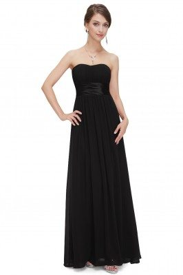 Strapless Ruched Bust Black...