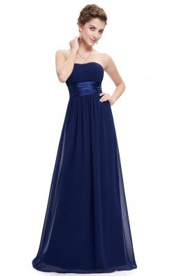 Strapless Ruched Bust Navy...
