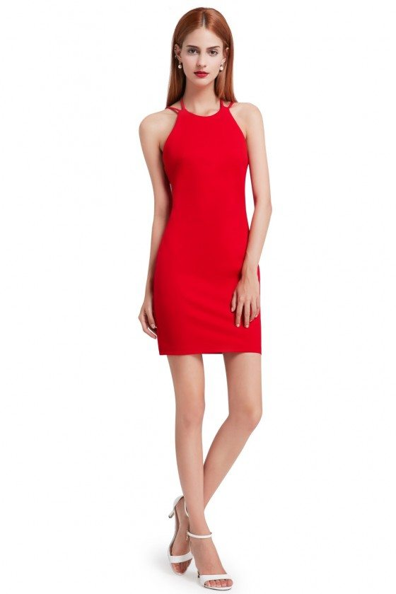 Sexy Red Open Back Bodycon Party Dress