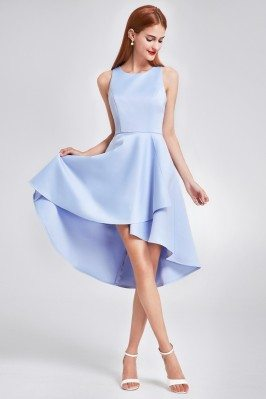 Blue Sleeveless High Low...