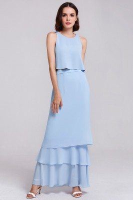 Two Piece Elegant Chiffon...