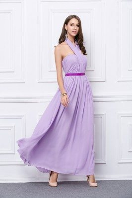 Lavender Multi Style Chiffon Bridesmaid Party Dress
