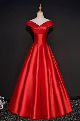 Simple Red Formal Satin...