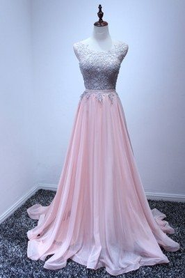 Beautiful Pink Chiffon Prom...