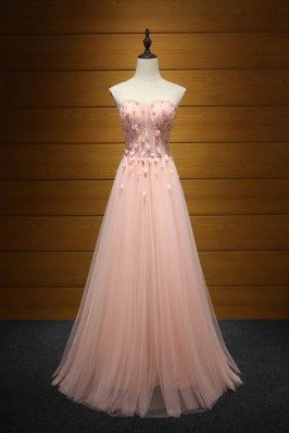 Fitted Peach Pink Long...