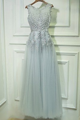 Gorgeous Grey Lace Tulle...
