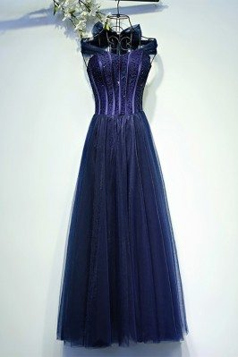 Vintage Chic Navy Blue...