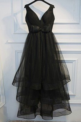 Super Cute Long Black Prom...
