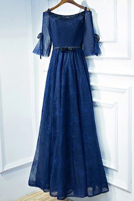 Beautiful Navy Blue Lace...
