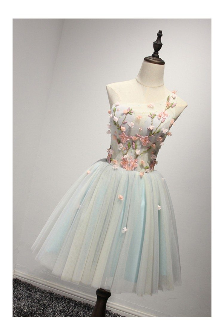 Short One Shoulder Tulle Dress DQ-8030 (With images