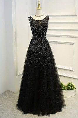 Sleeveless Beaded Long...