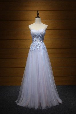 Cute Pinkish Blue Prom...
