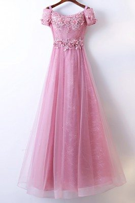 Beautiful Long Pink Prom...