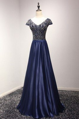 Sparkly Navy Blue Long...