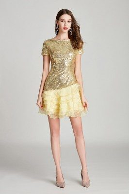 Modest Short Sequined...