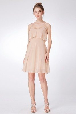 Champagne Simple Chiffon...