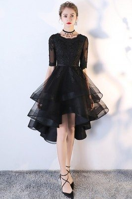 Black Tulle Homecoming Prom...