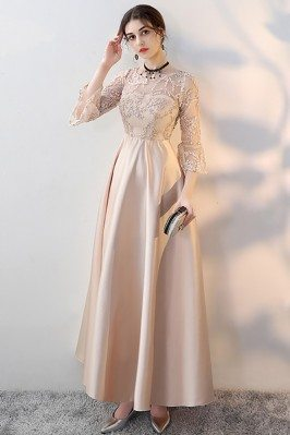 Champagne Long Formal Dress...