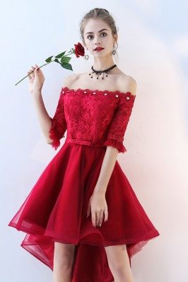 Red Lace Tulle Homecoming...