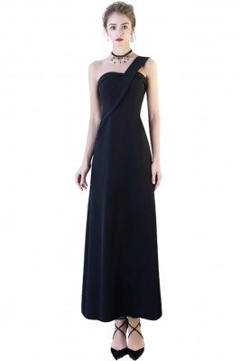 Simple One Shoulder Maxi...