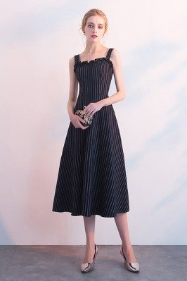 Striped Navy Blue Midi...