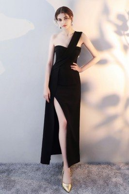 Chic Black One Strap Maxi...