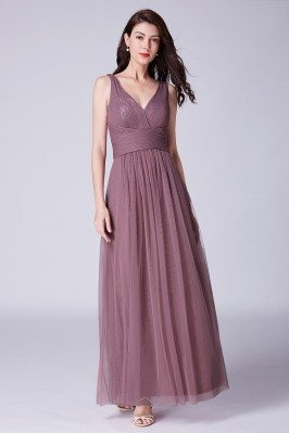 Elegant Long Purplish Pink...