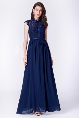 Modest Cap Sleeve Navy Blue...