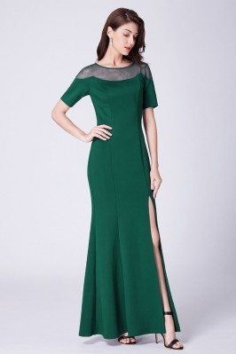 Fitted Green Long Split...