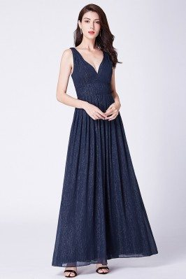 Navy Blue Long Sweetheart...