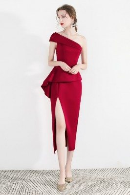 Sexy Red One Shoulder...