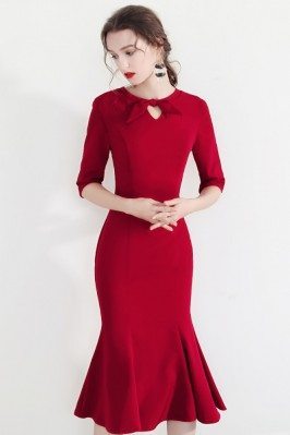 Vintage Bow Knot Bodycon...