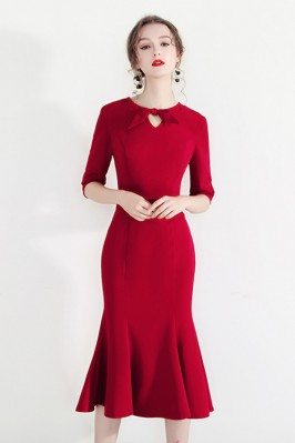 Bodycon Mermaid Chic Red...