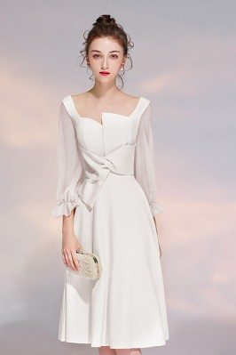 Elegant White 3/4 Sleeves...