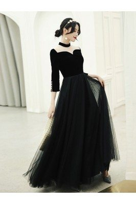 Retro Chic Long Black...
