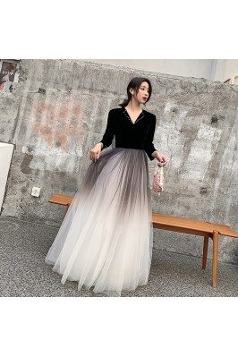 Velvet With Ombre Tulle...