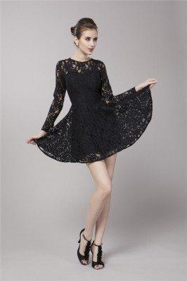 Classic Long Sleeve Short Dress