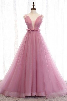 Rose Pink Long Tulle...