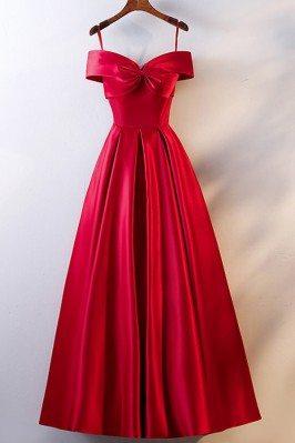 Burgundy Cute Big Bow Prom...