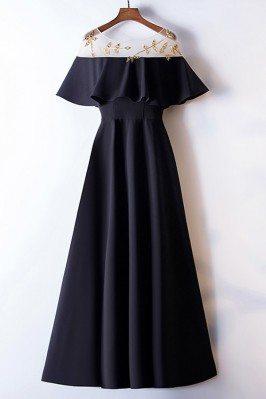 Simple Long Black Formal...