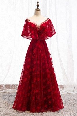 Formal Long Red Lace...